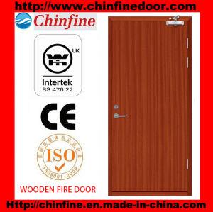 Porte coupe-feu de bois avec la CE (CF-F019)