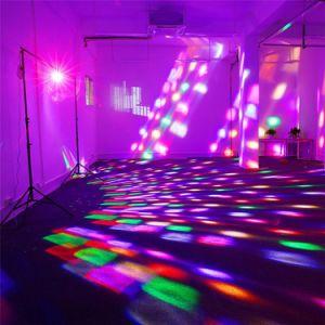 IP20 1*6W, DJ Fase el equipo de sonido de bola mágica luz de LED de iluminación