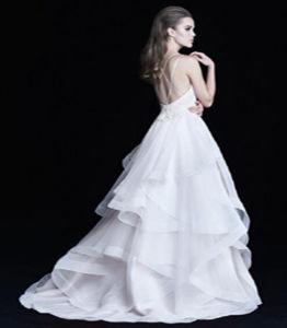 Vestido de casamento sexy do vestido de esfera do traje da noiva de Organza das mulheres adultas