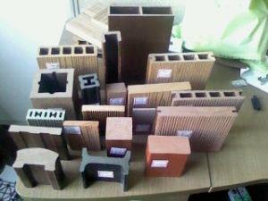 Um deck de plástico de madeira ecológica Ocox
