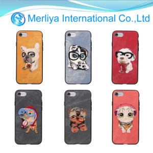 Los bordados a mano el teléfono animales caso para el iPhone7 7plus