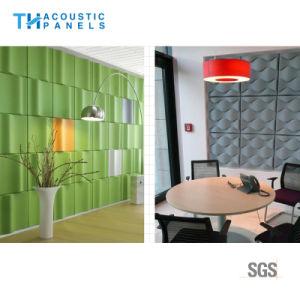 Eco Friendly Les matériaux de construction décoratif Panneau mural acoustique 3D
