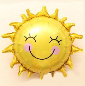 Ballon van het Aluminium van de Glimlach van de Zonnebloem van de Decoratie van de partij de Grote