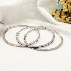 Het dagelijkse Witgoud van Juwelen plateerde de Duidelijke Armband van de Armband van het Zirconiumdioxyde