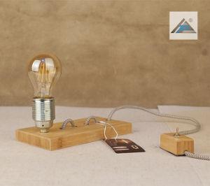 Lámpara de mesa de juego de bambú con bambú el interruptor (C5007393)