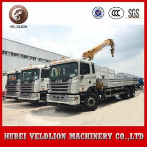Lança telescópica Truck Crane JAC 10ton Truck grua montada, 12 Ton caminhão com Guindaste