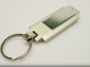 Personalizar giro Metal disco flash USB Pen Drive 4gb llavero