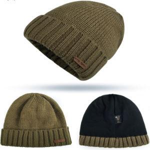 100% أكريليكيّة مادة وبالغ [أج غرووب] عادة رقعة شتاء [بنيس] قبعة