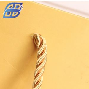 Sacco di carta del regalo di lusso con la maniglia della corda