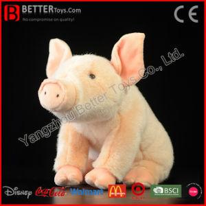 Giocattolo dentellare molle animale farcito realistico del maiale della peluche per i capretti
