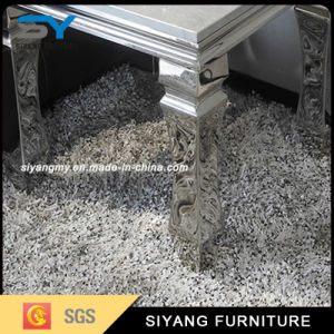 Mesa de mármol chino de la Base de metal Cristal Tempared mesa lateral