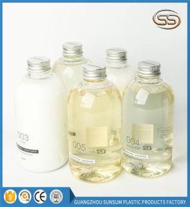 Tapa de aluminio de plástico PET Mateial acondicionador Shampoo jabón de baño botella vacía