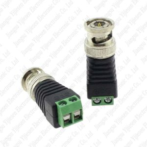 カメラBNC UTPのCCTVシステムのためのビデオバランのコネクターのアダプターへの小型同軸Cat5