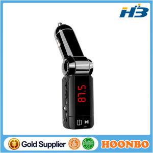 La moda el encendedor de cigarrillos altavoz manos libres Bluetooth Car Kit transmisor de FM con doble Dual USB cargador de teléfono móvil