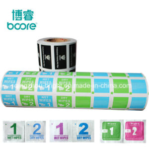 Las toallitas húmedas antisépticas material de embalaje de papel de aluminio de gasa con alcohol, alcohol Cottone Ball