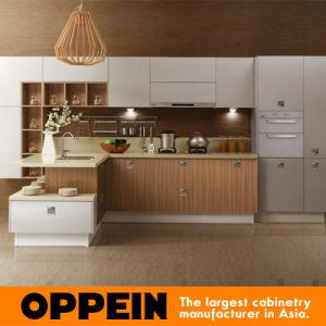 PVC y Melamine Wood Kitchen Cabinet (OP13-228) del país