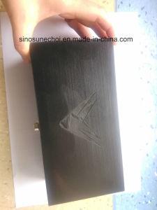 Caixa de oferta de madeira de cor preta com preço barato para embalagem de sacos de chá