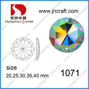 Dz-1071 Flat Back AB Color Mirror Round Glass Beads mit Holes für Garment