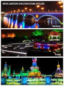 60 LEDs/Mは適用範囲が広いRGB LEDのネオン滑走路端燈を防水する