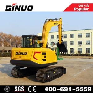 Un excelente rendimiento de la excavadora de ruedas de 8 toneladas de China con la cuchara para la venta