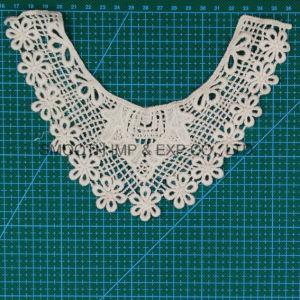 Tessuto bianco dell'accessorio dell'indumento del collare del merletto della tessile della guarnizione del ricamo di modo