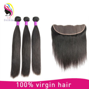 Venta caliente 8un color natural sin procesar en línea recta de extensión de cabello humano.