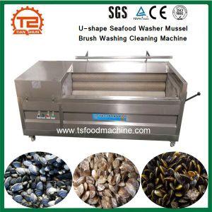 Arruela de marisco em forma de U Escova máquina de limpeza e lavagem de mexilhões