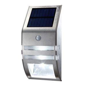 La energía solar de luz LED de montaje en pared exterior de acero inoxidable jardín patio de la lámpara del sensor