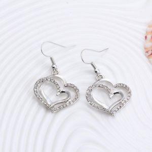 De romantische Reeksen van de Juwelen van de Keten van de Kleur van het Kristal van het Patroon van het Hart Zilveren