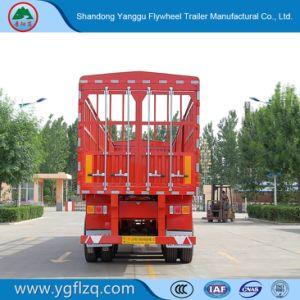 35-80t 3 de Staak van Assen/de Zij Semi Aanhangwagen van de Vrachtwagen van de Raad/van de Omheining voor Lading/Fruit/Vee/Mineraal