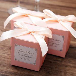 Cumpleaños Fiesta de Bodas a favor de la boda, Bolsas de regalos Bombones de chocolate y cajas de regalo de despedida de soltera parte Caja de regalo de papel