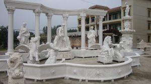 La vente belle sculpture de pierre chaude extérieure ou intérieure Jardin des fontaines de marbre de Trevi (sy-F055)