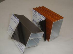 アルミニウムは表面の保護フィルムの側面図を描く