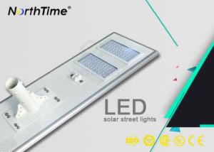 Inalámbrica inteligente de energía solar resistente al agua todo-en-uno de los LED Luz solar calle
