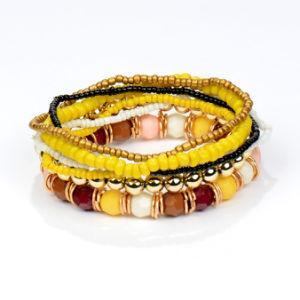 2017 de Boheemse Armband van de Parels van Mutilayer van de Juwelen van de Zomer