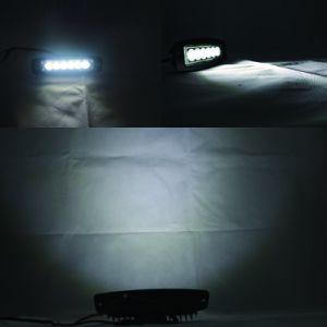 Spot de inundación 18W LED de color negro de la luz de trabajo del tractor