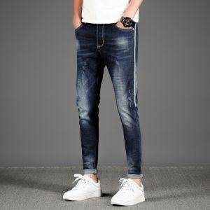 Alimentação de fábrica Casual confortável homens Skinny Jeans rasgadas preço grossista