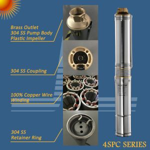 72V 1kw de energía solar de 4 pulgadas de pozo profundo bomba sumergible, bomba de pozo con MPPT controlador