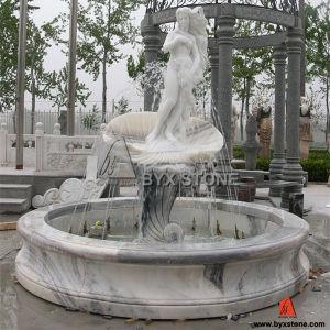 Tallado En Marmol Blanco Dama Jardin Fuentes De Agua Para El - Fuentes-exterior