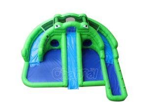 カエルの裏庭子供Chsl714のための膨脹可能な水プールのスライド