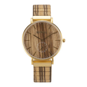 Роскошный пользовательские часы антистатический браслет из нержавеющей стали смотреть мужская деловой древесины смотреть