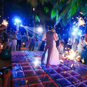 Pista de Baile de LED para la boda etapa parte de la barra de luz de Navidad
