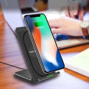 2018 nueva emisión de calor Ventilador Qi Cargador de teléfono móvil para Smart Phone