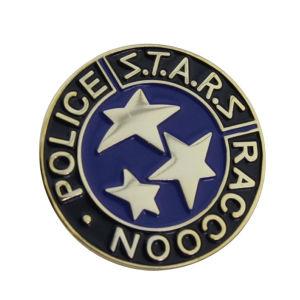 Qualitäts-Schmucksache-kundenspezifische Polizei Stars Waschbär-weiches Decklack-Metallabzeichen (075)