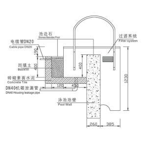En la pared de alta calidad integrada de plástico Piscina filtro de arena