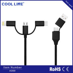 5 in 1 USB-Kabel, im schnellen aufladendaten-Kabel, im Universalmikro USB-Kabel, im Blitz-Kabel, im Typen c-Kabel, im geeigneten iPhone und in der androiden Ladung, alle in einem USB-Kabel