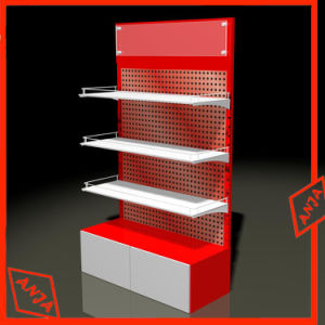 Kundenspezifische Preis-Beschreibungs-hölzerne Kleinschuh-Bildschirmanzeige-Regale für Speicher
