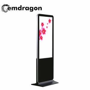 Schmaler Anzeigen-Video-Player-Nisse LCD des Anzeigetafel-Fußboden-Standplatz-Digitalsignage-65 des Zoll-3D Bildschirm LCDdigital Signage 1000 im Freienbekanntmachensled