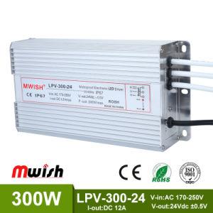 El controlador LED 300W 12V/24V/48V de salida de la única fuente de alimentación de conmutación ajustable para la TIRA DE LEDS Convertidor AC-DC