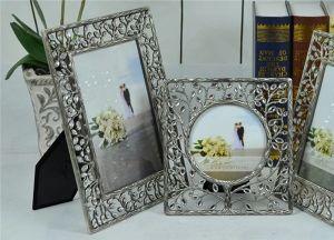 Kundenspezifisches Dekoration-Geschenk-Aluminium ließ Metall darstellen/Foto-Rahmen in der kundenspezifischen speziellen Form (013)